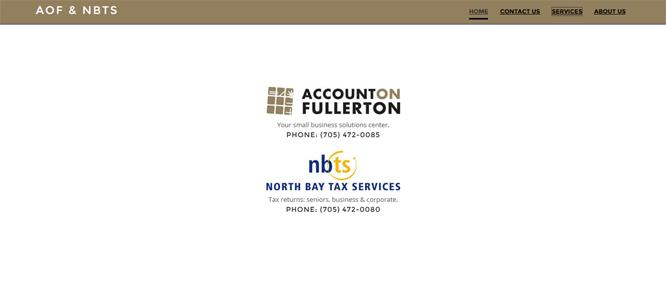 Account on Fullerton & NBTS